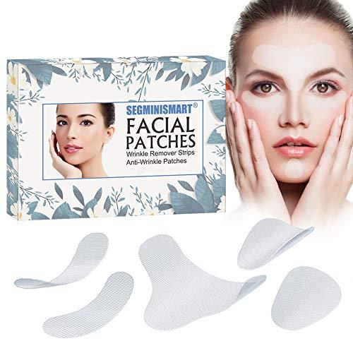 Parches faciales, tiras antiarrugas, parches antiarrugas, parches antiarrugas, parches de arrugas en la frente, parches de arrugas en los ojos, tratamiento de arrugas, parches suavizantes y arrugas.