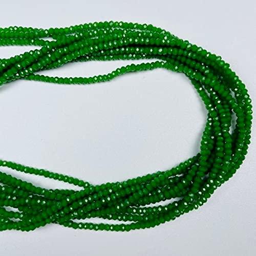 1 Strand 1MMX2MM Opaco Multicolor Multicolor facetado Pequeño Cristal Glass Rondel Beads para joyería Hacer joyería DIY Beads Spacers