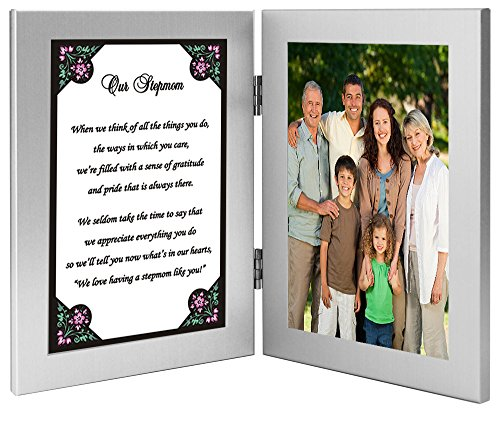 Stepmom Gift for Her Birthday or Mother's Day, Touching Poem for Stepmother from Stepchildren - Add 4x6 Inch Photo