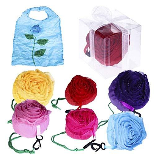 Disok opvouwbare tas roze met doos en strik