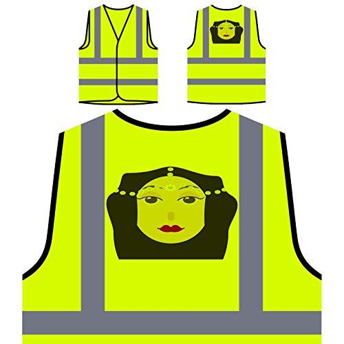 Señora De La Moda Mujer París Chaqueta de seguridad amarillo personalizado de alta visibilidad o601v