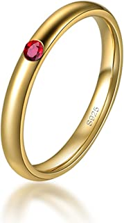 2mm 925 Sterling Silver High Polish Plain Dome Wedding Band Comfort Fit Ring for Women 1.5mm 0.015cttw Emerald Ruby Sapphi...
