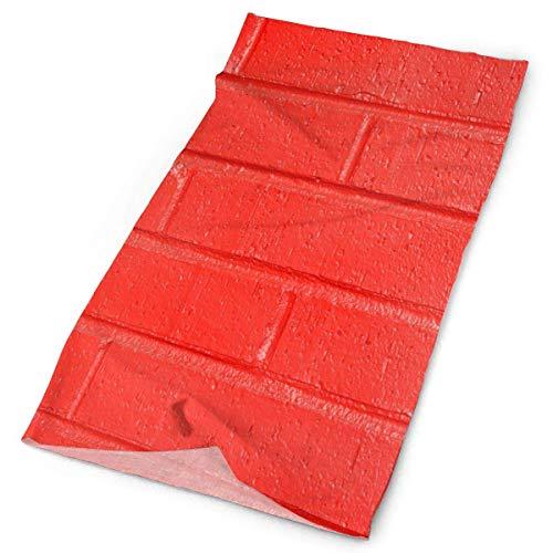 ONLED Diadema de ladrillo pintado rojo pared exterior bufanda máscara cuello polaina cabeza envoltura banda para el sudor