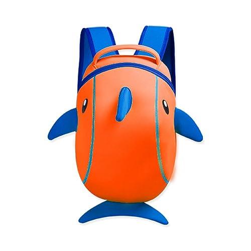 ec4efe52c3 YISIBO Boys Girls 3d School Bag Animal Monster CartoonKids Backpack Toddler  Bookbag Dophin Orange