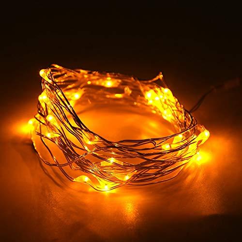 Cadena de luz, flexible de alambre de cobre de 5 m con alambre de cobre y ABS cadena de luz para decoración festiva ornamento