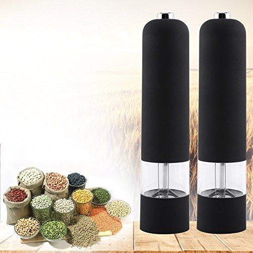 【𝐅𝐫𝐮𝐡𝐥𝐢𝐧𝐠 𝐕𝐞𝐫𝐤𝐚𝐮𝐟 𝐆𝐞𝐬𝐜𝐡𝐞𝐧𝐤】Wocume Pfeffermühle, Elektrische Pfeffermühle Salz Gewürzmühle Muller Kitchen Tool Gadget Schwarz