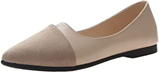 Centory Sole Classic Fancy Women's Casual Pointed Toe Comfort Soft Slip On Flats Shoes