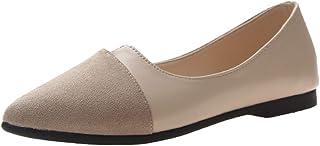 Chaussures Plates Bout Pointu pour Femme Confortables Le Printemps colorées Femmes Ballerines Femmes Bout Pointu Cuir Micr...