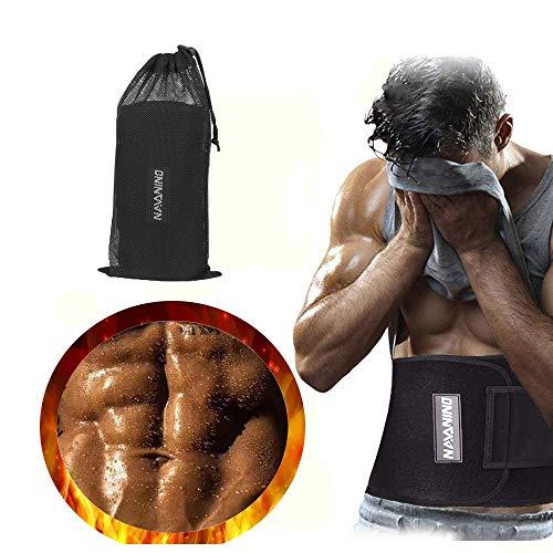 NAVANInavanino Technology ltdNO Fitnessgürtel Fitness Gürtel Verstellbarer Neopren Sauna Bauchweggürtel zur Fettverbrennung und zur Rückenstabilisierung (S)