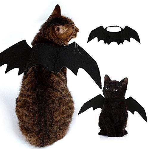 Murciélago Alas Vampiro Negro Lindo Disfraz De Halloween Mascota Perro Gato Traje