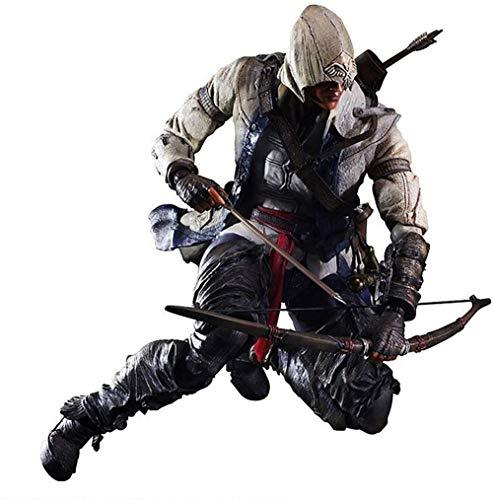 KIJIGHG Assassin s Creed 3 Connor Kenway Connor Kenway Modelo de accin Figura en Caja Figura de Anime Figuras de accin Modelo 27CM