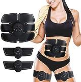 Electroestimulador Muscular Abdominales,Abdominales Cinturón, EMS Estimulador Muscular Abdominales, para Abdomen/Cintura/Pierna/Brazo