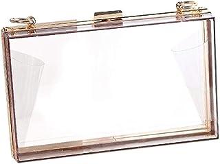 Umhängetasche Damen Clutch Acryl Transparente Frauen Clutch Bag Kette Frauen Umhängetasche Abendtasche Handtasche Kette Um...