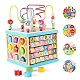 Best Activity Cubes - Qilay Wooden Baby Activity Cube for 1 2 Review