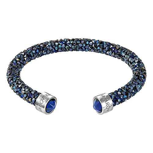 Swarovski Damen-Armreif Crystaldust Bracelet Edelstahl Kristall blau Rundschliff - 5250068