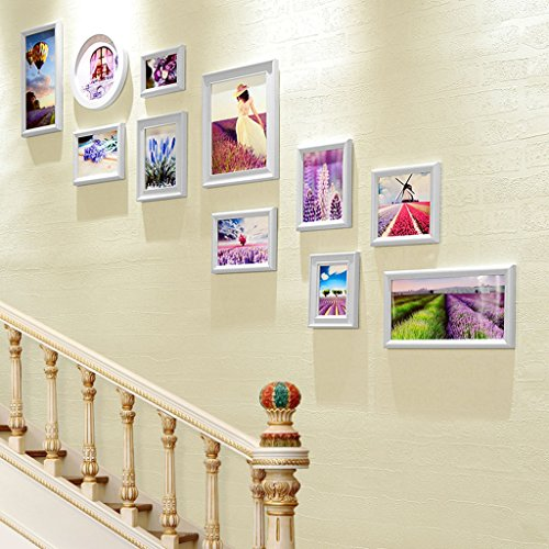 ZGP Home@Wall photo frame Hallway Staircase Photo Wall Frame Wall Combination Photo Wall Creative Living Room Bedroom Decorative Photo Frame Wall (Color : A)