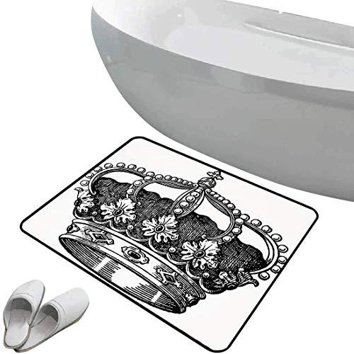 Alfombra de baño antideslizante de felpudo Reina Alfombrilla goma antideslizante Antiguo Royal...