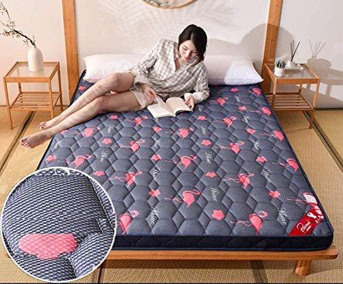 GuoEY Thick Mattress Protector - Breathable Foldable Tatami Mattress Topper Bedding Multi Size for Home Yoga Baby Crawling Mat,A,150x190cm
