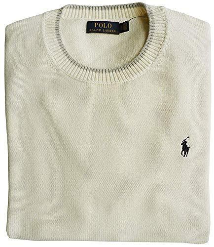 Ralph Lauren Polo Pullover, XL, Pony Logo, Chic Cream