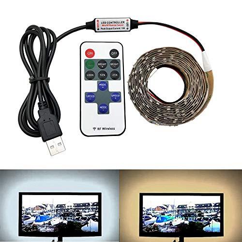 HVTKL 12Keys LED controller USB-kabel Power LED strip licht SMD 2835 Desktop lichten van Kerstmis for tape televisie backlighting HVTKL (Color : White, Size : 12 KETYS SET)