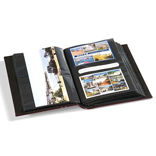 Leuchtturm Vielzweckalbum Multi für Postkarten, Briefe FDC, Fotos, rot