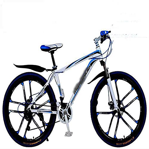 WXXMZY Lightweight 24-speed, 27-speed Mountain Bikes, Strong Aluminum Frame, Cross-country Bikes, Carbon Fiber Male And Female Variable Speed Bikes (Color : A, Inches : 24 inches)