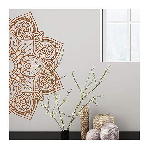Crewell Mandala - Adhesivo decorativo para pared, diseño de mandala de PVC, para sala de estar, dormitorio, yoga, arte de pared