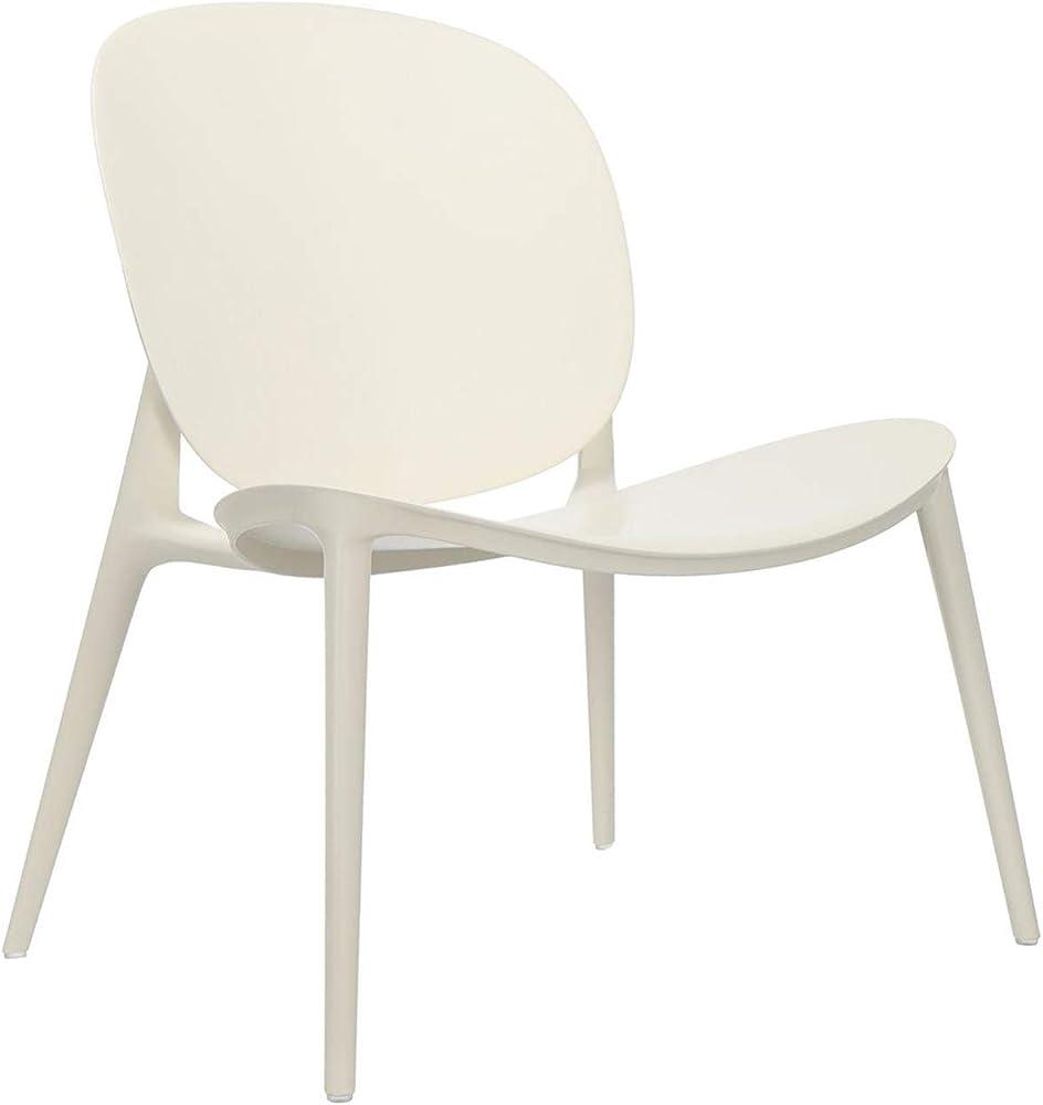 Kartell be bop, poltrona, sedia, colore bianco, adatto anche per esterni 582603