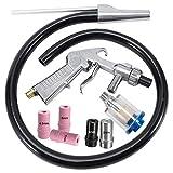 KingBra Air Sand Blaster - Juego de chorro de arena (1 boquilla de acero cerámico de 5 mm, 1 pistola de pulverización de tubo de succión
