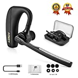 Bluetooth Headset Wireless Headphones, Bluetooth V4.1 Ear Hanging Earpiece with Mic Mute Switch