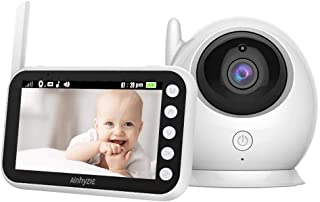 Baby Monitor Video Baby Camera 4.3'' Screen 2.4Ghz Wireless Transmission 2-Way Talk Temperature Sensor Crying Breast-Feed Reminder Infrared Night Vision Long Range 8 Lullabies Audio Baby Camera
