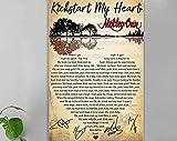 Mötley Crüe Kickstart My Heart Lyrics Song Poster,...