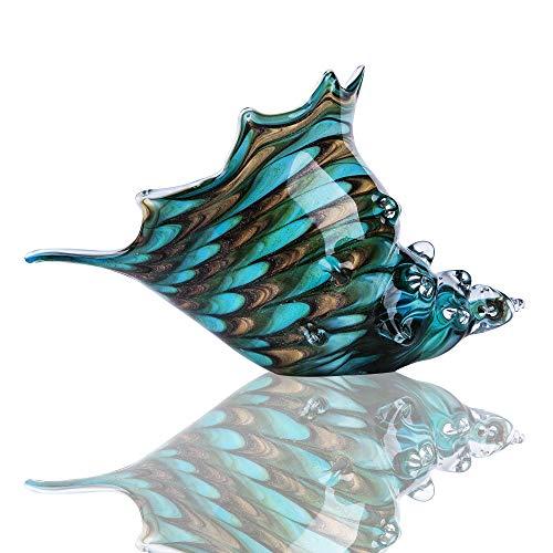 Hand Blown Seashell Art Glass Figurine Home Table Decor