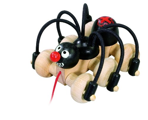 Detoa Wooden Pull Along Spider by