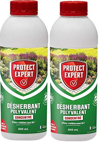 PROTECT EXPERT PROHERBIO800X2 Désherbant Polyvalent Concentré Lot de 2 X 800ml   Longue durée: Jusqu'à 4 semaines, Efficient