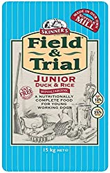 DIETARY NEEDS - Field & Trial Junior Duck & Rice is a nutritionally complete dog food, specially developed and formulated to support the continued growth and development of puppies (from approx six months old, dependent on breed/type) and young dogs,...