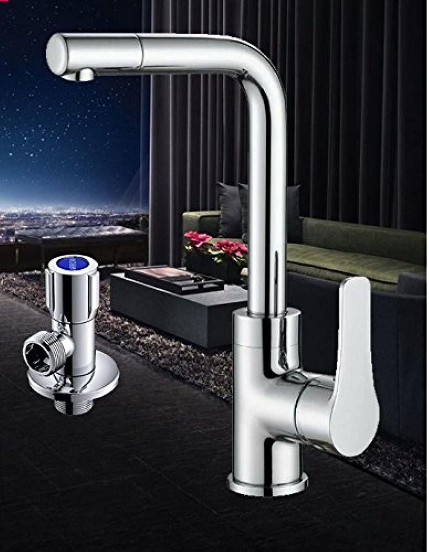 LSRHT Basin Taps Mixer Bathroom Sink Faucet Copper Swivel Washing Face Aetb-04Tb-0Tb-10Tb-08 (Single Hole Cabinet Accessory Kit)
