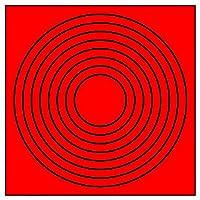 【446-85】ゲージマーカー円形赤