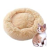 HIMA PETTR Warm Haustiernest, Waschbare Bequem Ruheplatz Gemütlich Kuschelig Kitty Bett Für Kleintiere Kätzchen,Hellbraun,50 * 26cm