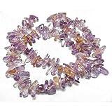 Filo 85+ Porpora/D'Oro Ametrino 6x18mm Chips Lunghe Tagliato a Mano Perline GS5003 (Charming Beads)