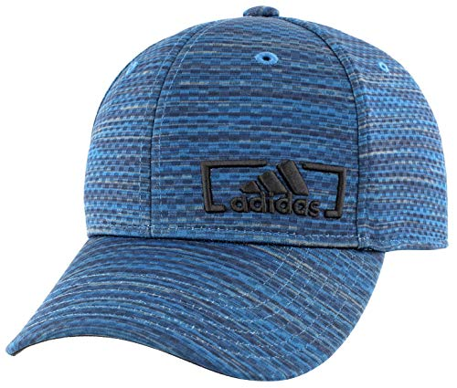 adidas Men's Amplifier Stretch Fit Structured Cap, Core Blue Looper Print, Small/Medium