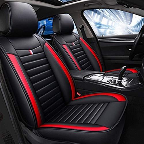 Protection siege voiture Moderne Minimaliste Mode cuir Siège d'auto Couverture for Auto Pièces 5 sièges Protection (Color Name : Black red no pillow)