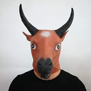 WXYXG Halloween Mask/Latex Mask Cow Headgear Children's Anime Cartoon Cow Devil Headpiece, Movie Props