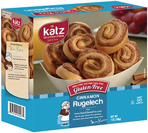Katz Gluten Free Cinnamon Rugelach Mini Glazed Cinnamon Buns | Gluten Free, Dairy Free, Soy Free, Nut Free | Kosher (1 Pack of 8 Rugelach, 7 Ounce)