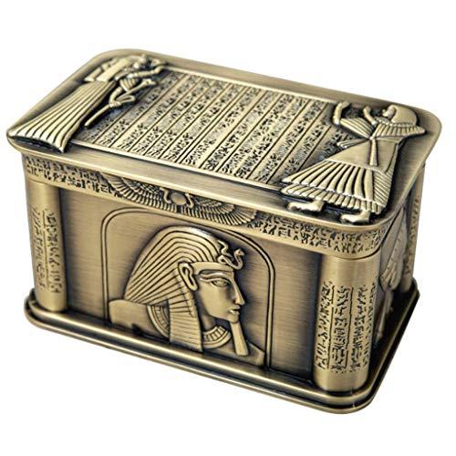 Joyero Caja De Joyería De Oro Vintage Rectangle Tinket Caja De Joyería con Tapa De La Caja Organizador De Ewely para Gemas,Pendientes Regalo de joyería