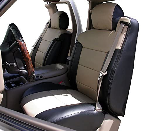 It is very popular Iggee 2003-2006 Chevy free shipping Silverado Black C Beige Artificial Leather