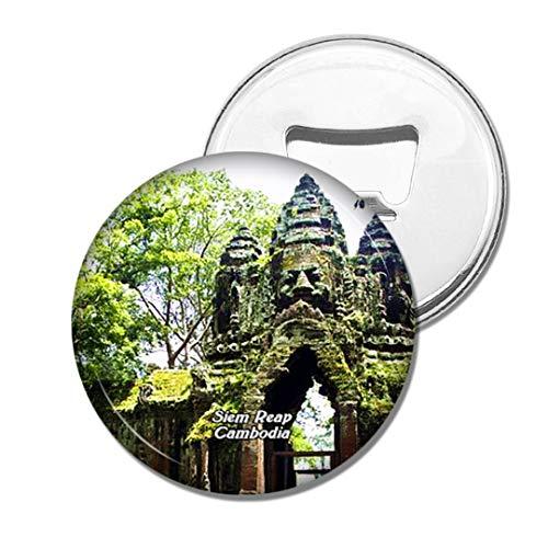 Weekino Kambodscha Angkor Thom Angkor Wat SIEM Reap Bier Flaschenöffner Kühlschrank Magnet Metall Souvenir Reise Gift
