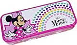 Minnie Mouse Triple The Fun Minnie Mouse Tin - Neceser Minnie, Set De Maquillaje Para Niñas - Maquillaje Minnie - Selección De Productos Seguros En Un Estuche Con 3 Pisos 260 g
