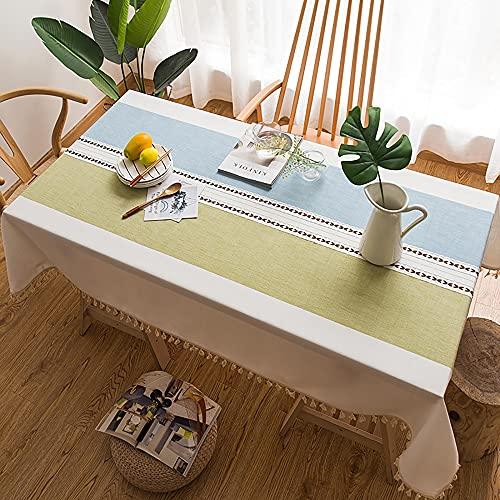Tovaglia, tovaglie in cotone lavabile con cuciture in nappa, tovaglia rettangolare, tovaglia per la decorazione del tavolo della cucina/Come mostrato / 90x150cm
