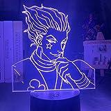 Weiit niños noche luz regalo LED táctil sensor colorido dormitorio luz anime Hunter X Hunter decoración luz fría 3D lámpara hisoka Gadgets